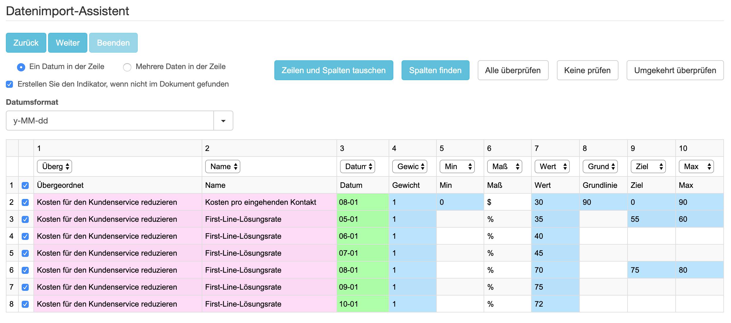 Einfacher Excel-Import