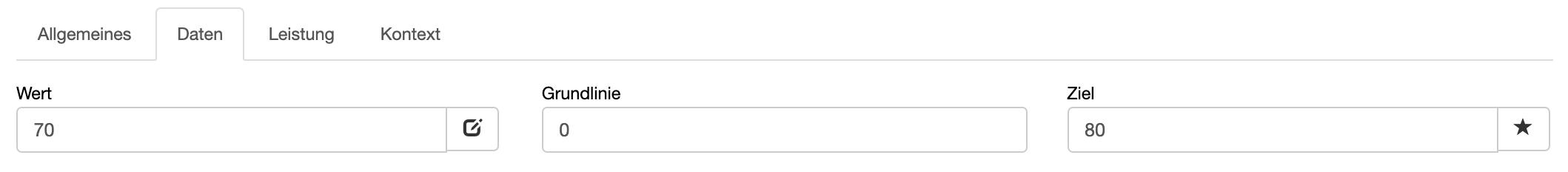 """Registerkarte """"Daten"""" in BSC Designer"""
