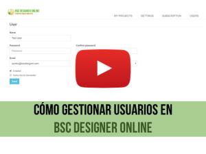 Vídeo de capacitación: Administración de usuarios en BSC Designer Online