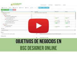 Video de capacitación: Objetivos de negocio en BSC Designer Online