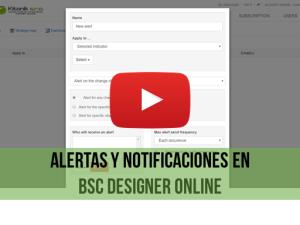 Video de capacitación: Alertas en BSC Designer Online
