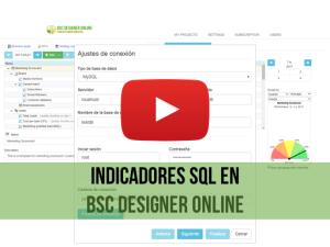 Video de capacitación: Indicadores SQL en BSC Designer Online