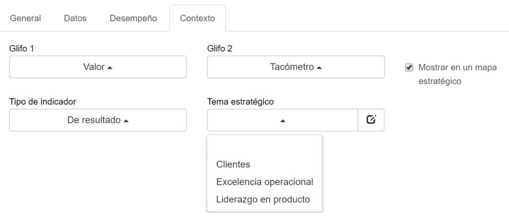 Selección del tema estratégico en BSC Designer Online