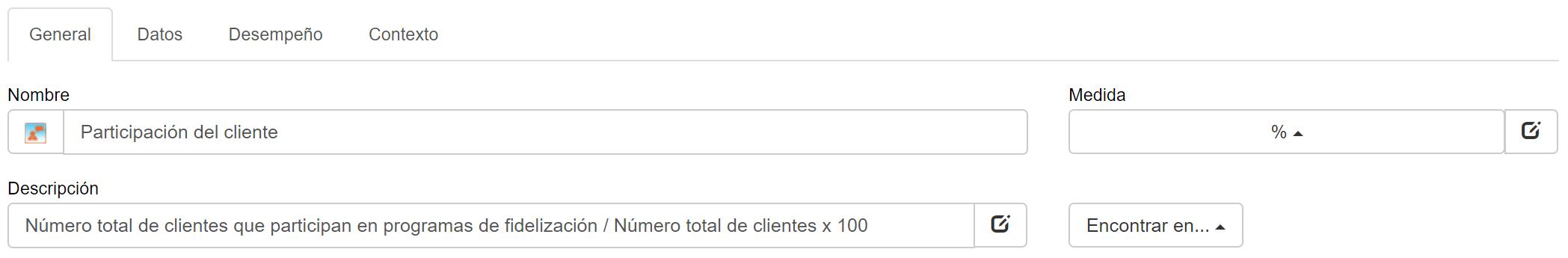 Detalles de la métrica de participación del cliente