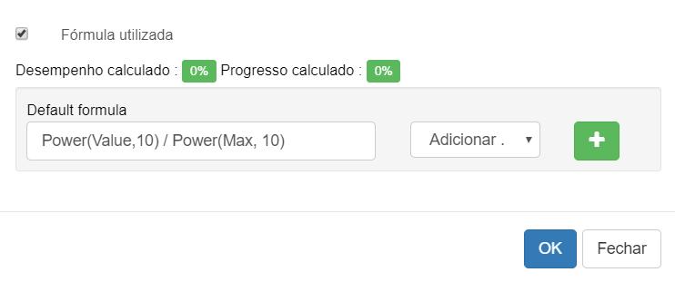 Função de performance customizada no BSC Designer Online