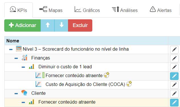 Criando um indicador importado no BSC Designer Online