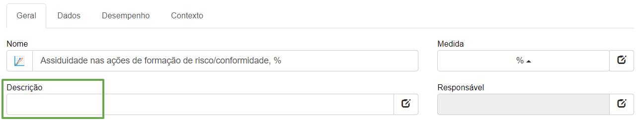 Definição de risco no BSC Designer Online