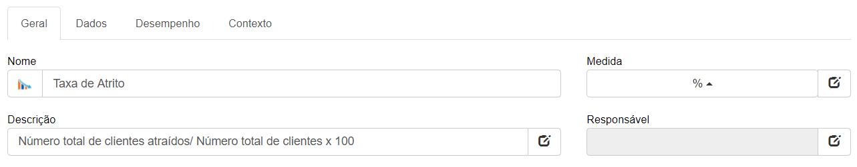 Detalhes do KPI da taxa de atrito