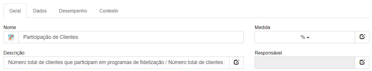 Detalhes da métrica de participação do cliente