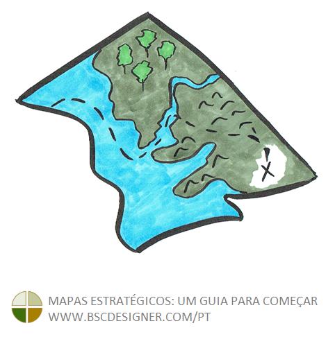 Hoje, o mapa estratégico tem uma imagem semelhante a um mapa do tesouro comercial, uma espécie de roteiro comercial que deve levar qualquer organização a um sucesso iminente.