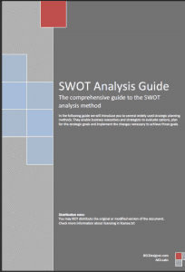 SWOT Analysis Guide. Cover page.