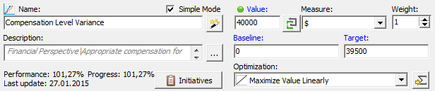 Calculate compensation variance automatically