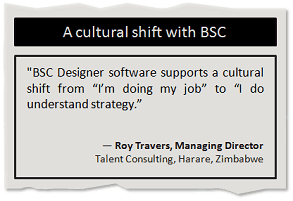 A cultural shift with Balanced Scorecard