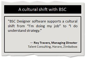 A cultural shift with Balanced Scorecard