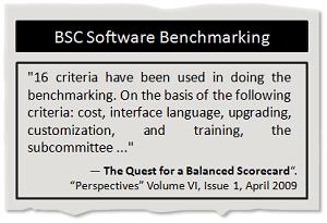 Balanced Scorecard software benchmarking