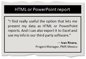 Balanced Scorecard in HTML or PowerPoint report