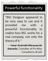 BSC software with a powerful functionality