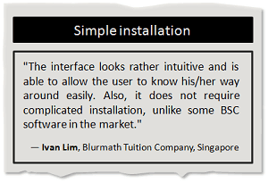 Simple installation of BSC Designer