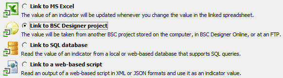 Imported indicator in BSC Designer