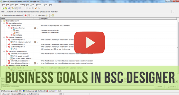 Business Goals in BSC Designer - Video