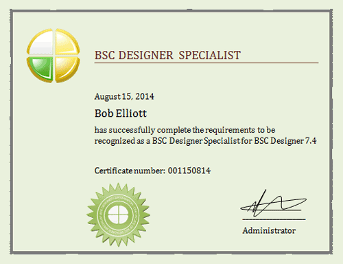 BSC Designer Specialist Training and Certification | BSC Designer