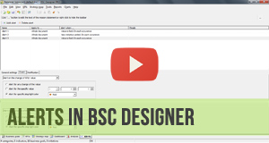 Video manual for Alerts in BSC Designer