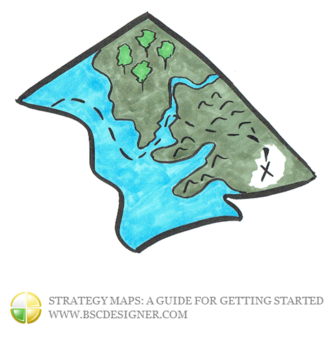 Today,strategy maphas an image similar to abusiness treasuremap, a kind of a business road map that is supposed to lead any organization to imminent success.