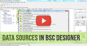 Data sources for KPIs in BSC Designer - Video Manual