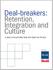 Study from Aon Hewitt showed that around 10% of an M&A's contract value depended on the retention/separation levels of critical staff.