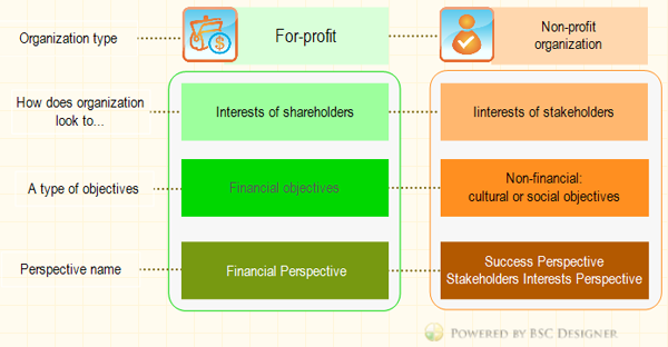 Financial perspective of the Balanced Scorecard for non-profit