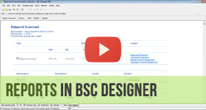 KPI and Scorecard Reports in BSC Designer - Video Manual