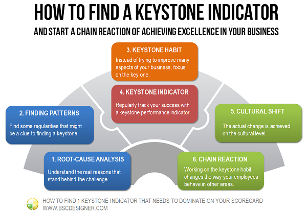 How to find a keystone indicator and start a chain reaction of achieving excellence in your business