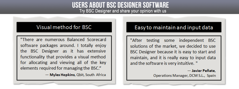 With BSC Designer it is easy to maintain and input data