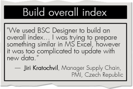 Build overall index with BSC Designer