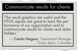 Communicate results for clients with BSC Designer