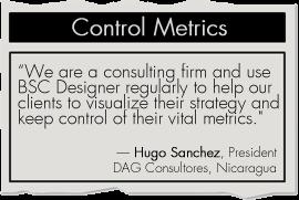 Control Metrics with BSC Designer