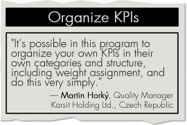 Organize KPIs