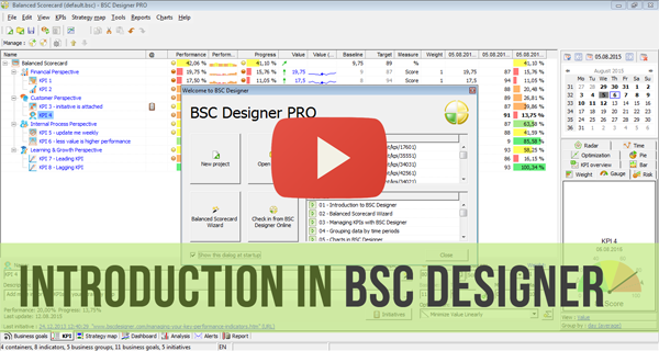 A short Getting Started Video for BSC Designer