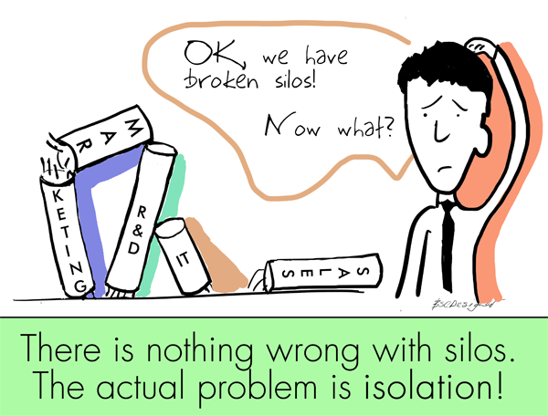 OK, we have broken silos! Now what? There is nothing wrong with silos. The actual problem is isolation!