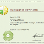 KPI Training and Certification - the preview of the certificate issued