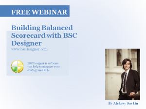 Free webinar: Building Balanced Scorecard with BSC Designer