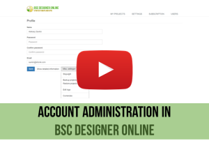 Training video: Account Administration in BSC Designer Online