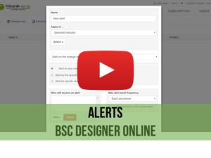 Training video: Alert in BSC Designer Online