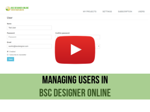 Training video: Managing Users in BSC Designer Online