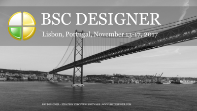 Business Scorecard and KPIs meeting in Lisbon, Portugal with BSC Designer