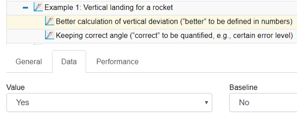 OKR Example 1: Vertical landing for a rocket