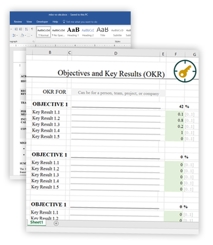 Download OKR Template in Excel, Word, or PDF formats