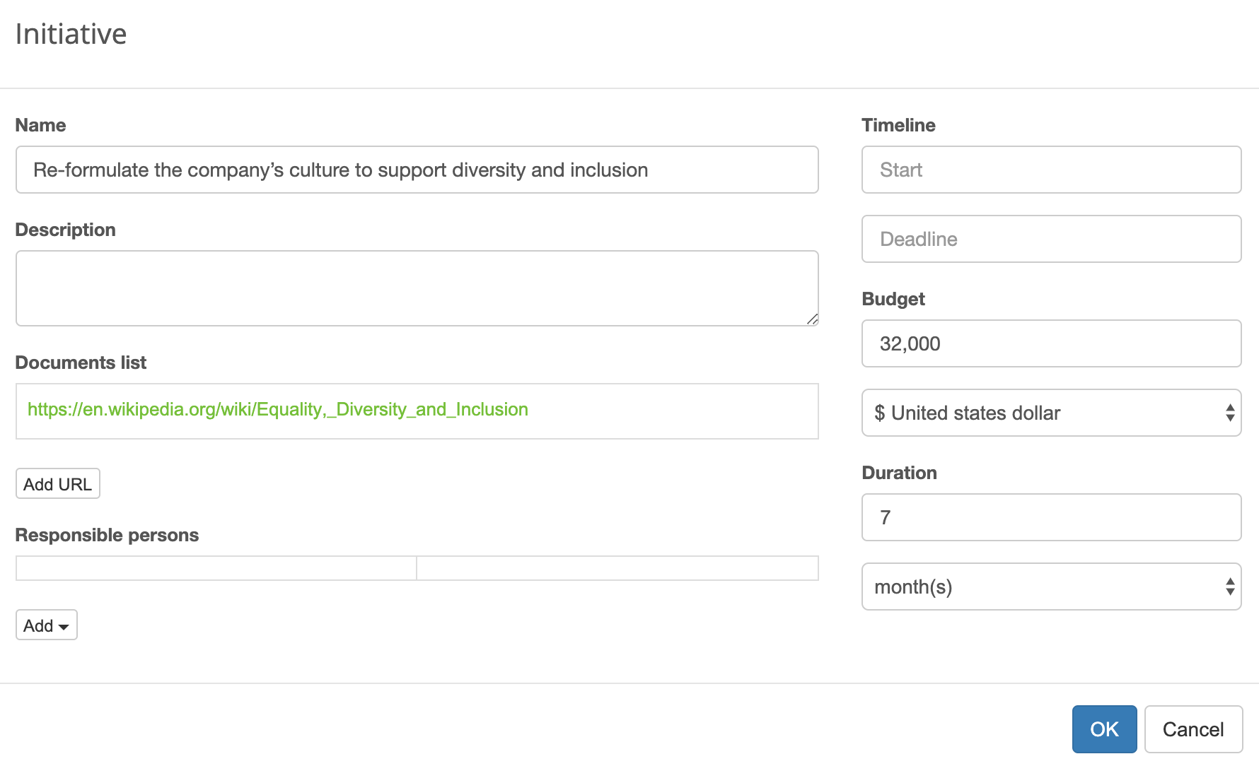 Initiative in BSC Designer software