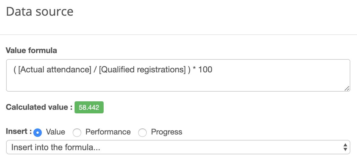 Actual vs. Registration Ratio